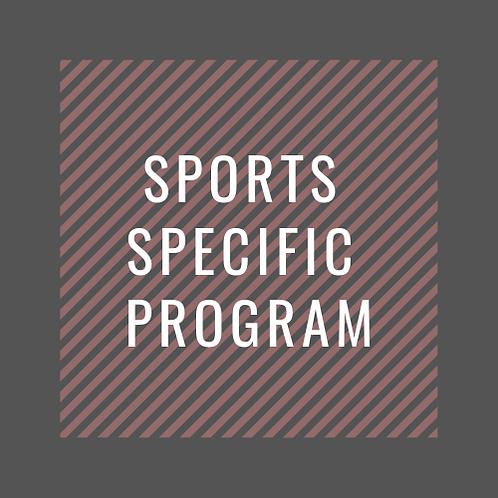 Sports Specific S&C Program