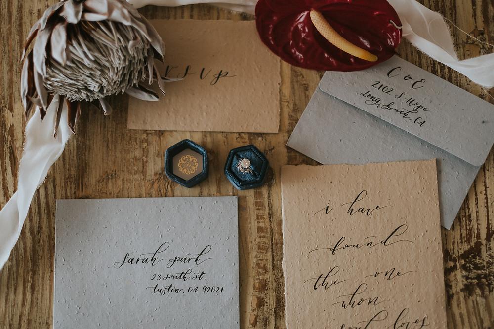 wildflower seed paper wedding invitations