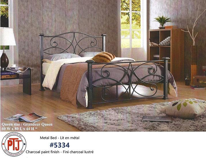5334 Queen Charcoal Metal Platform Bed