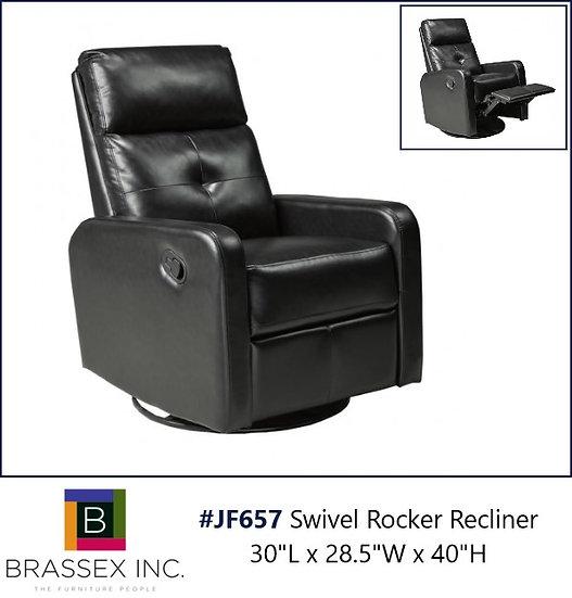 JF657 Swivel Rocker Recliner in Black