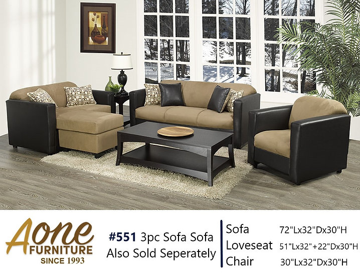 #551 3pc Sofa Set (Also Sold Seperately)