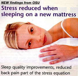 Stress Reduced When Sleeping on a New Mattress