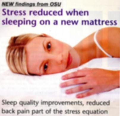Stress Reduced When Sleeping on a New Mattress
