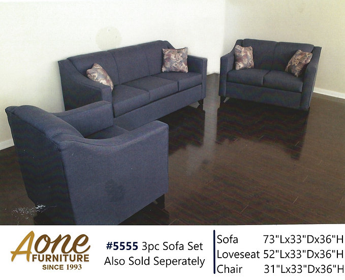 #5555 3pc Sofa Set (Also Sold Seperately)