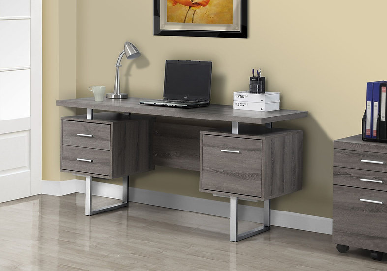 3 Drawer Computer Desk with Metal Legs (8 Colours Available)
