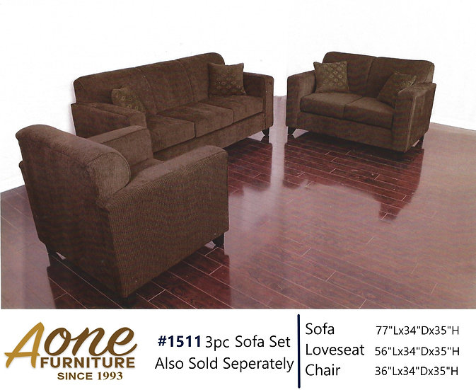 1511 3pc Sofa Set (Also Sold Seperately)