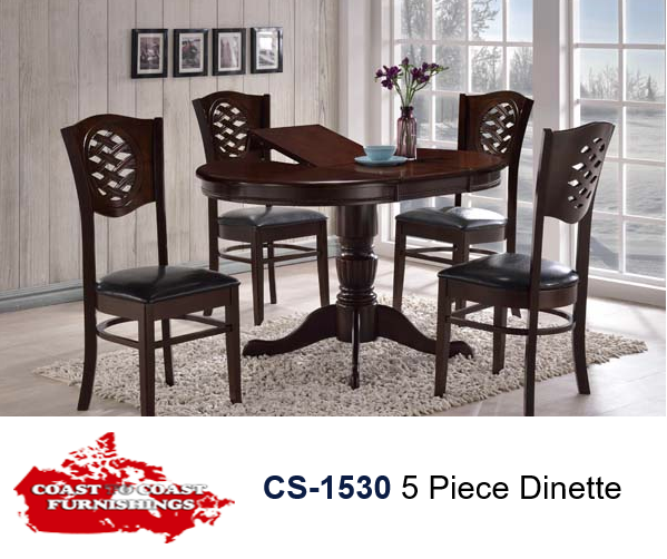 CS-1530 5 Piece Dinette with Extendable Table