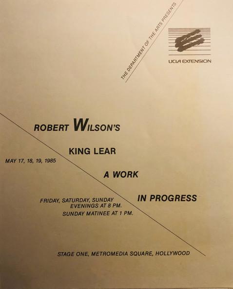 KING LEAR DIR. ROBERT WILSON