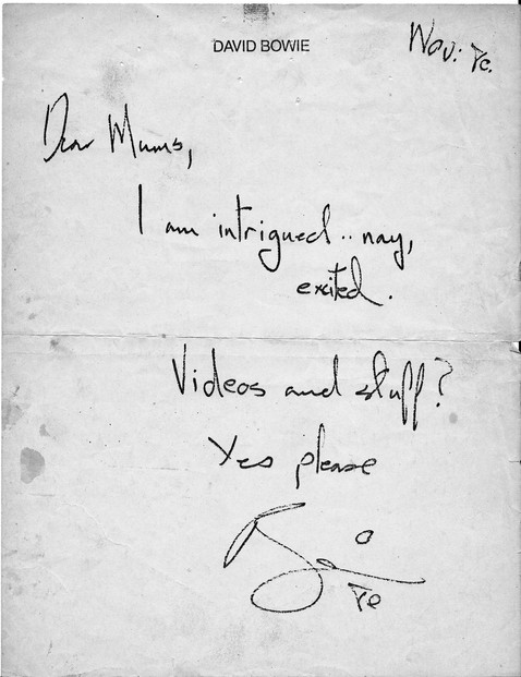 Letter From David Bowie #1