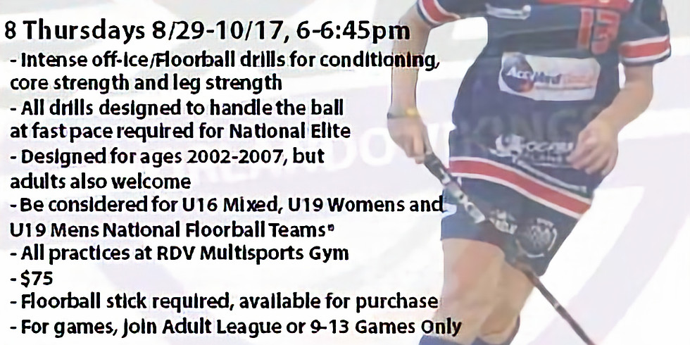 Youth 12+ National Elite Practice Only
