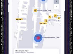 Schiphol wijst reiziger naar rustige plek met app