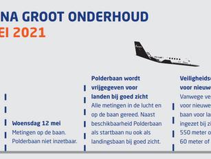 Meetvluchten Polderbaan op 10 en 14 mei 2021