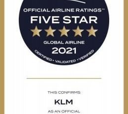 KLM krijgt opnieuw 5 sterren-status