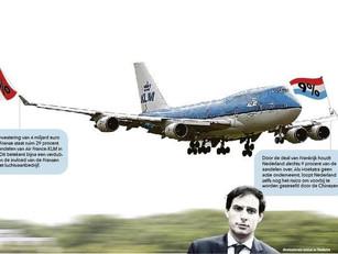 Nederlandse staat dreigt greep op KLM te verliezen