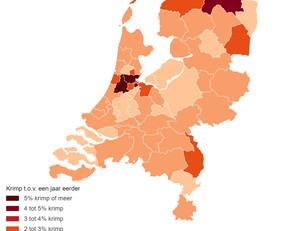 Nergens kromp de economie zo hard als rond Schiphol