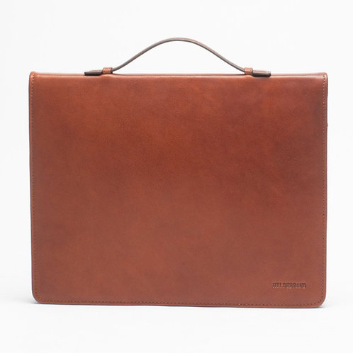 Leather Document Holder Cognac 14'