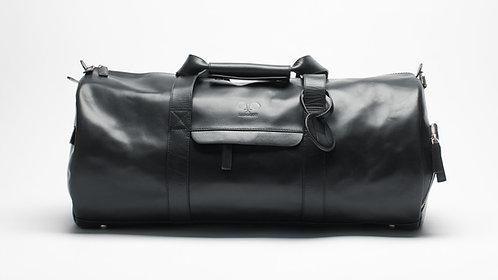 Leather Padel Duffel Bag Black