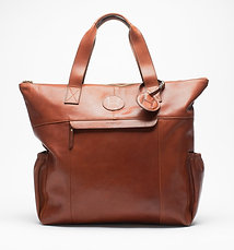 Leather Tote Bag Cognac