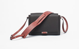 Brown and Burgundy Shoulder Bag