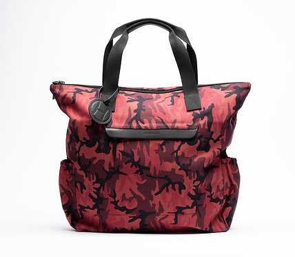 Tote Bag Red Camouflage