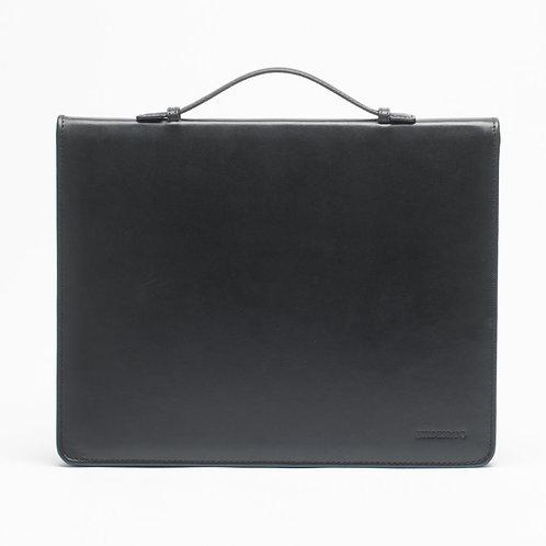 Leather Document Holder Black 14'