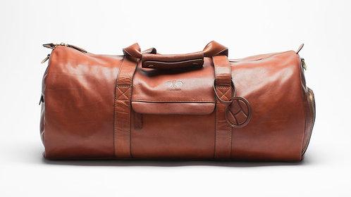 Leather Padel Duffel Bag Cognac
