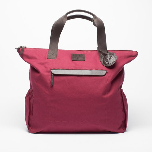 Tennis Tote Bag Burgundy