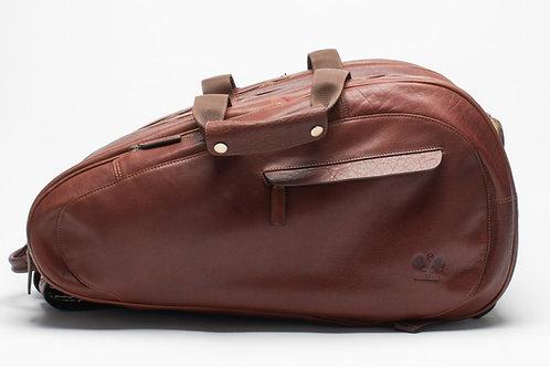 Leather Padel Bag Cognac