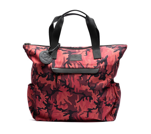 Tennis Tote Red Camouflage