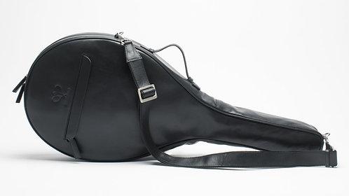 Luxury Leather Tennis Case Black