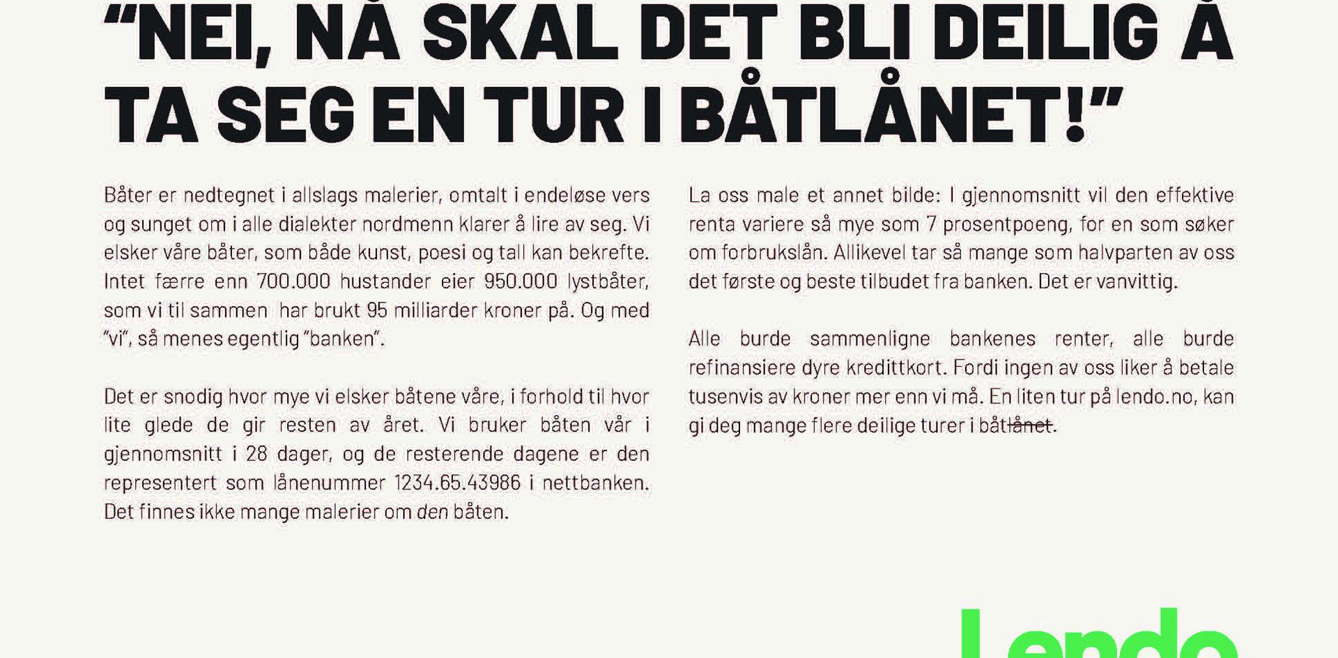 Aftenposten - Båtlån