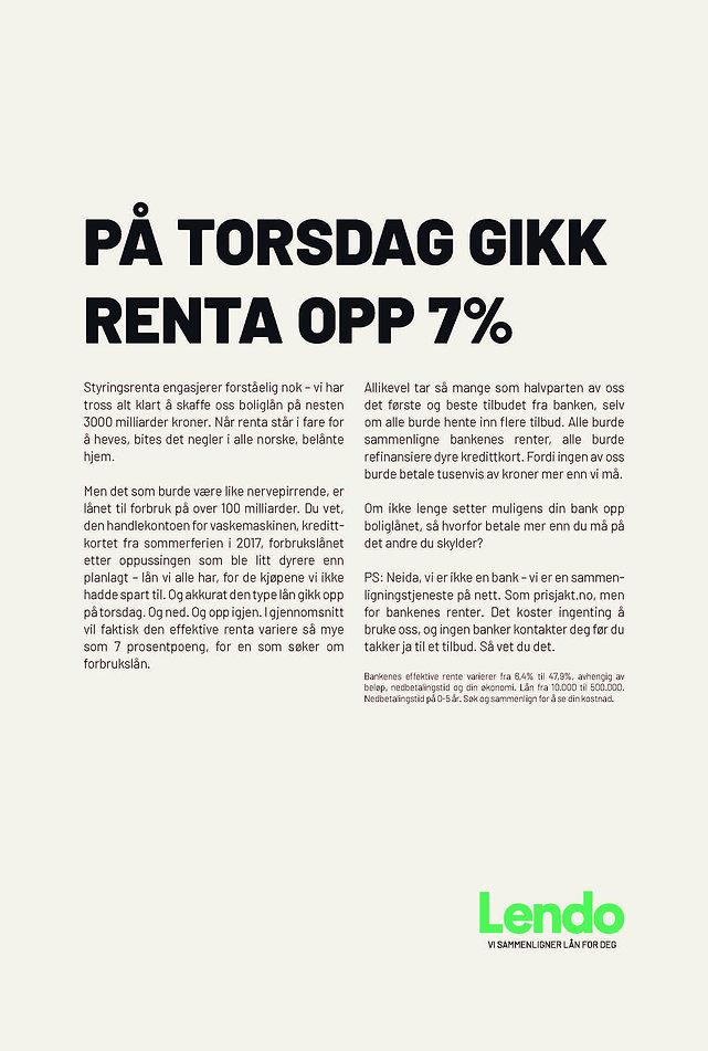 Aftenposten - Renteøkning