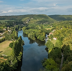 Le Lot depuis Saint-Cirq-Lapopie