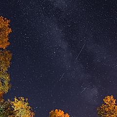 Étoiles filantes et Voie Lactée depuis Strontian