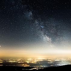 Voie Lactée de puis Chasseral, Suisse