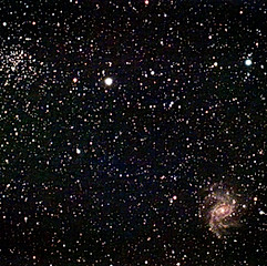 NGC6946 - Galaxie du Feu d'Artifice & NGC6939 - Amas ouvert