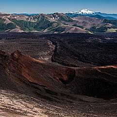 Crater Navidad, volcan Lonquimay