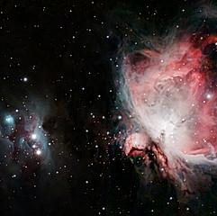 NGC1976 (M42) - Nébuleuse d'Orion & NGC1977 - Nébuleuse de l'Homme qui Court