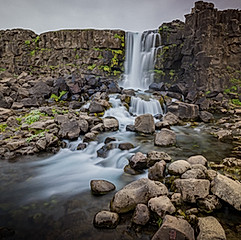 Öxarárfoss (Þingvellir), Islande