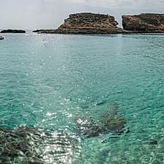 Blue Lagoon et Cominotto depuis Comino