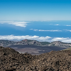 La caldeira de las Cañadas vue du Teide