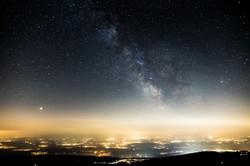Voie lactée, Chasseral, Suisse