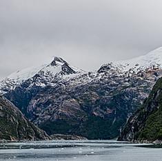 Glacier dans les fjords