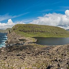 Lac de Sørvágsvatn, île de Vágar