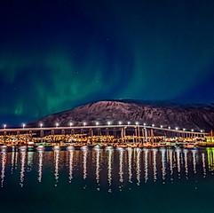 Aurore boréale sur Tromsø