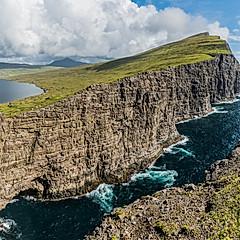 Lac de Sørvágsvatn, Vágar, Îles Féroé