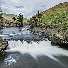 Chute d'eau d'Ulaan Tsutgalan