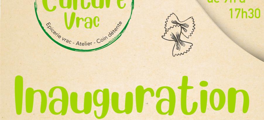Nous vous invitons à l'inauguration de Culture Vrac le samedi 26 septembre 2020