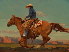 Cowboy Painting
