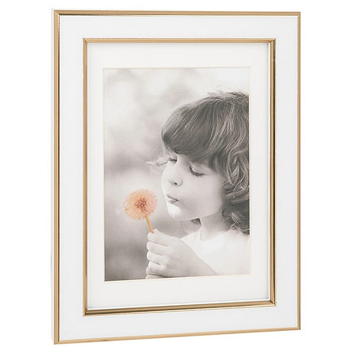 White and Gold Frame